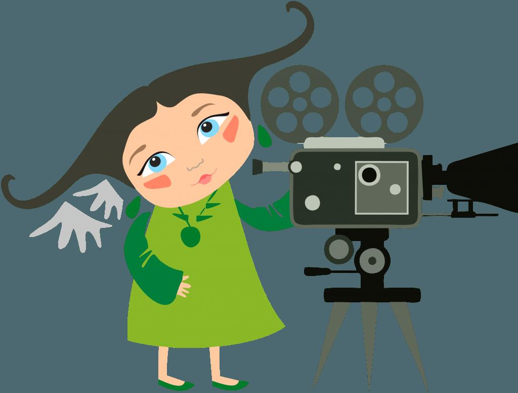 Девочка - логотип Чистого взгляда